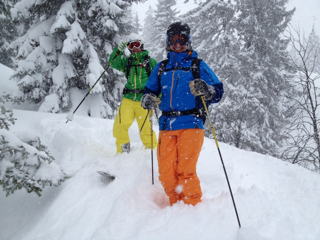 Powderday in Saalbach