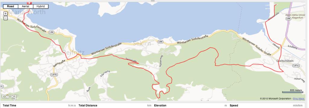 Strecke Trail Maniak Wörthersee 2013