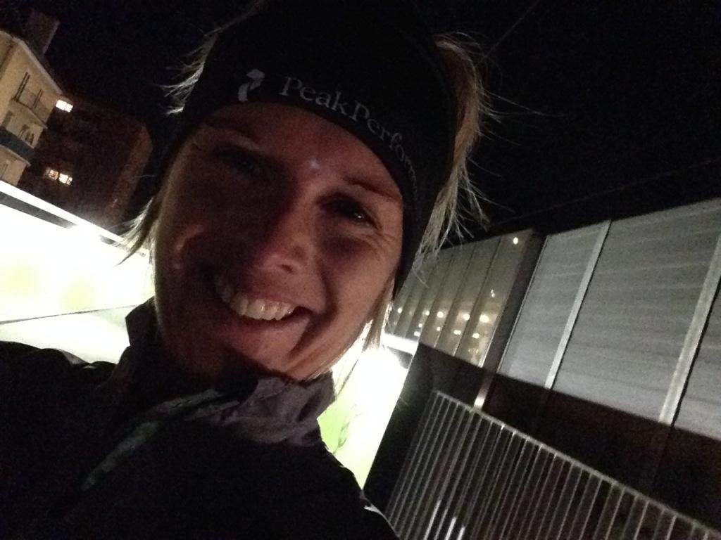 Happy face in the dark - im Kampf gegen den Schweinehund! :)