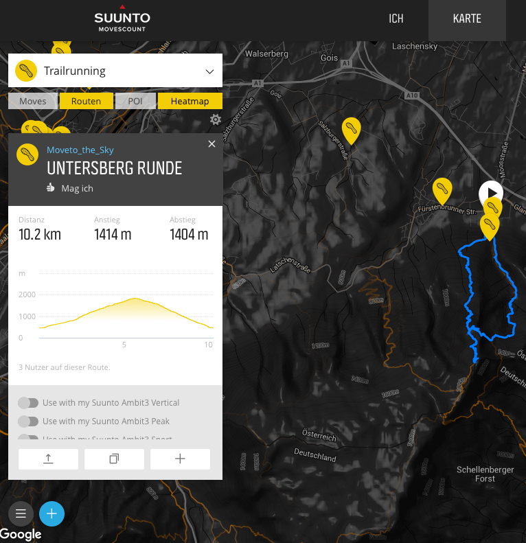 Suunto Movescount Routing